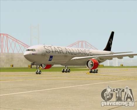 Airbus A330-300 SAS (Star Alliance Livery) для GTA San Andreas вид слева