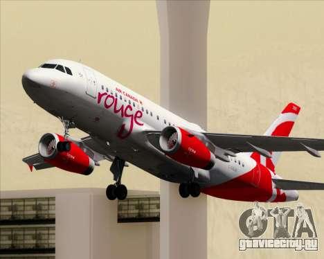 Airbus A319 Air Canada Rouge для GTA San Andreas