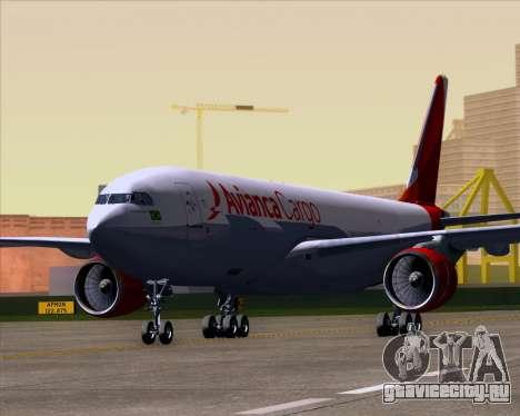 Airbus A330-243F Avianca Cargo для GTA San Andreas вид слева