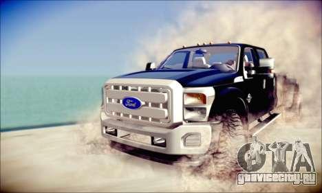 Ford F450 Super Duty 2013 HD для GTA San Andreas вид слева