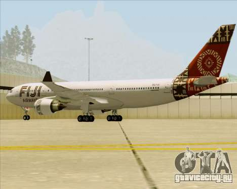 Airbus A330-200 Fiji Airways для GTA San Andreas вид сзади