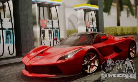 Ferrari LaFerrari F70 2014 для GTA San Andreas вид сзади слева