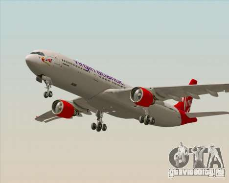 Airbus A330-300 Virgin Atlantic Airways для GTA San Andreas вид сзади