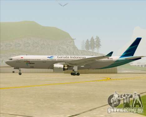Airbus A330-300 Garuda Indonesia для GTA San Andreas вид изнутри