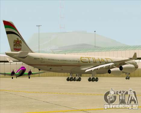 Airbus A340-313 Etihad Airways для GTA San Andreas вид сзади