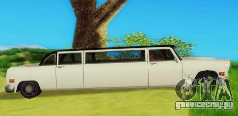 Cabbie Limousine для GTA San Andreas вид сзади слева