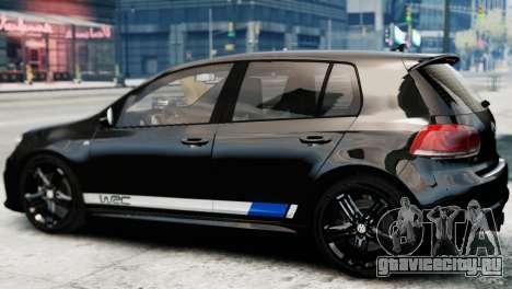 Volkswagen Golf R 2010 Polo WRC Style PJ1 для GTA 4 вид слева