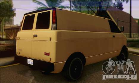 Declasse Burrito from GTA V (IVF) для GTA San Andreas вид слева
