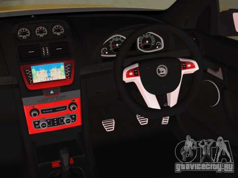Holden HSV GTS 2011 для GTA Vice City вид сзади слева