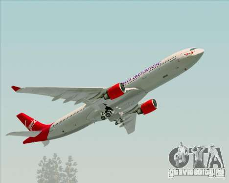Airbus A330-300 Virgin Atlantic Airways для GTA San Andreas вид сверху