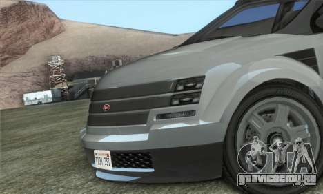 Vapid Radius 1.0 (HQLM) для GTA San Andreas вид сзади слева