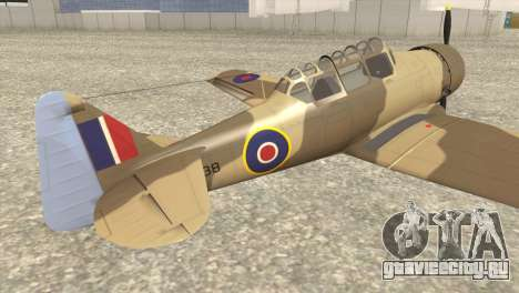 North American T-6 TEXAN AJ838 для GTA San Andreas вид слева
