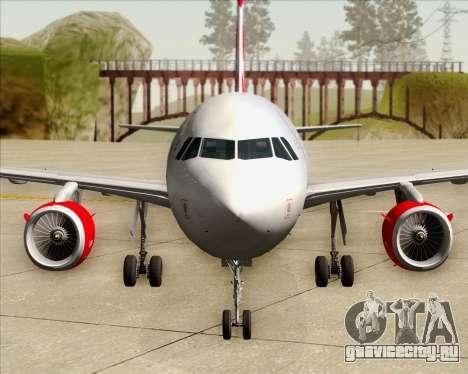 Airbus A319 Air Canada Rouge для GTA San Andreas салон