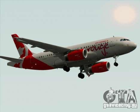 Airbus A319 Air Canada Rouge для GTA San Andreas вид изнутри