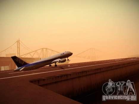 Airbus A320-211 All Nippon Airways для GTA San Andreas вид сверху