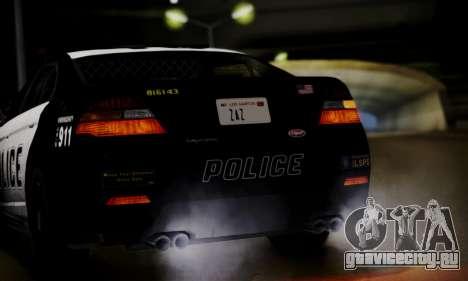 Vapid Police Interceptor from GTA V для GTA San Andreas вид изнутри