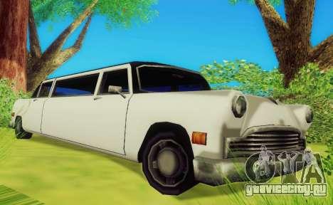 Cabbie Limousine для GTA San Andreas вид слева