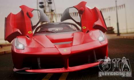 Ferrari LaFerrari F70 2014 для GTA San Andreas вид сзади