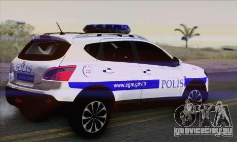 Nissan Qashqai TR POLİS для GTA San Andreas вид слева