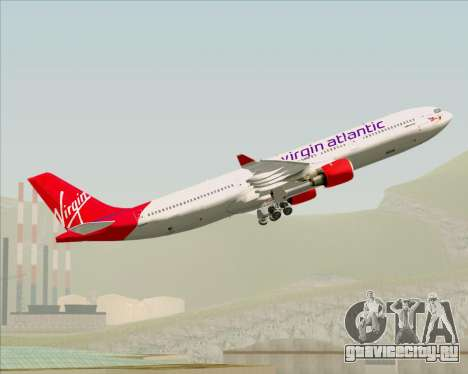 Airbus A330-300 Virgin Atlantic Airways для GTA San Andreas двигатель