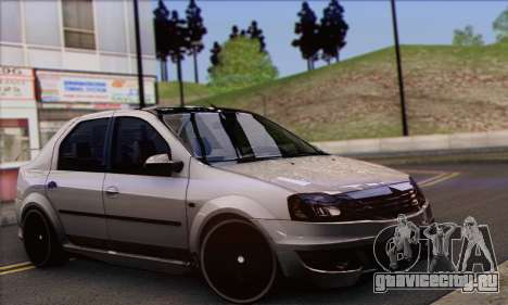 Dacia Logan Hoonigan Edition для GTA San Andreas