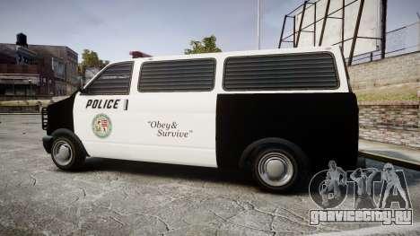 Declasse Burrito Police Transporter LED [ELS] для GTA 4 вид слева
