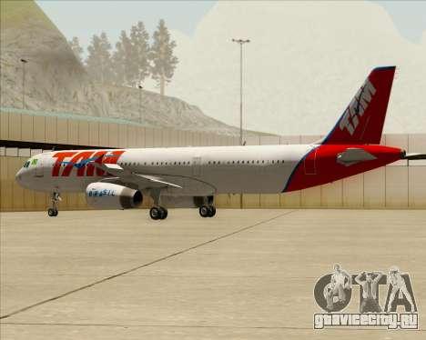 Airbus A321-200 TAM Airlines для GTA San Andreas вид снизу