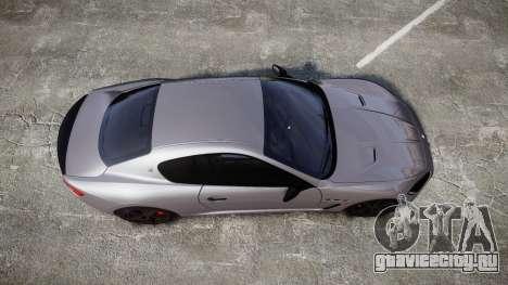Maserati GranTurismo MC Stradale 2014 [Updated] для GTA 4 вид справа