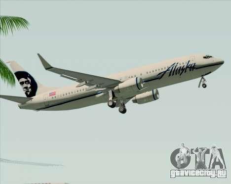 Boeing 737-890 Alaska Airlines для GTA San Andreas вид сбоку