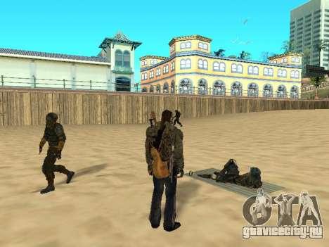 Новые коврики на пляже для GTA San Andreas второй скриншот