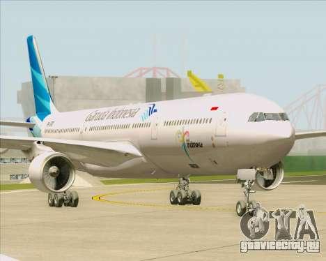 Airbus A330-300 Garuda Indonesia для GTA San Andreas вид сзади слева