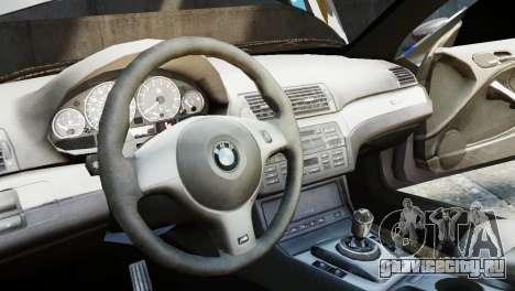 BMW M3 E46 Emre AKIN Edition для GTA 4 вид сзади