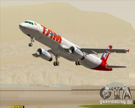 Airbus A321-200 TAM Airlines для GTA San Andreas двигатель