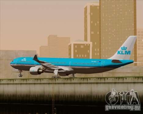 Airbus A330-300 KLM Royal Dutch Airlines для GTA San Andreas вид изнутри