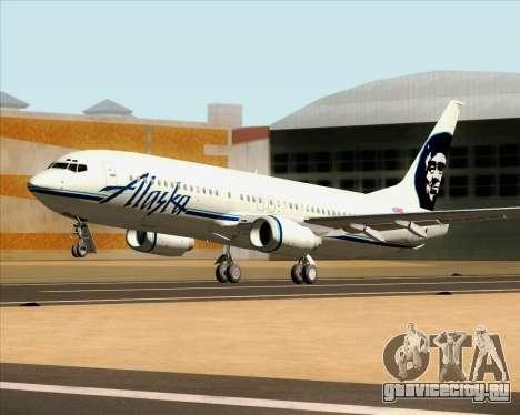 Boeing 737-890 Alaska Airlines для GTA San Andreas вид изнутри