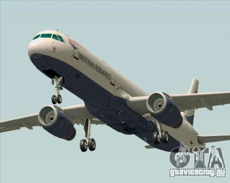 Airbus A321-200 British Airways для GTA San Andreas вид сзади слева