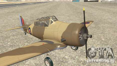North American T-6 TEXAN AJ838 для GTA San Andreas