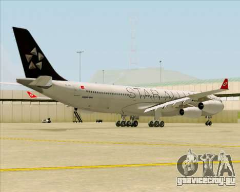 Airbus A340-311 Turkish Airlines (Star Alliance) для GTA San Andreas вид справа