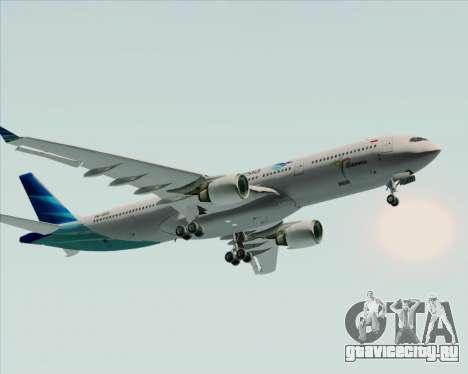 Airbus A330-300 Garuda Indonesia для GTA San Andreas вид сверху