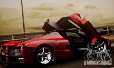 Ferrari LaFerrari F70 2014 для GTA San Andreas вид сверху