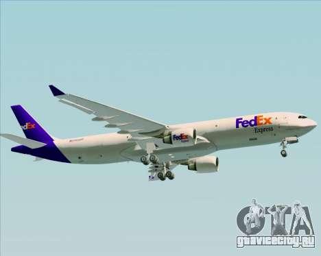 Airbus A330-300P2F Federal Express для GTA San Andreas вид сбоку