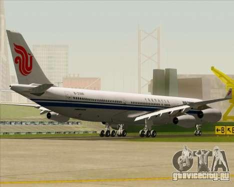 Airbus A340-313 Air China для GTA San Andreas вид сзади