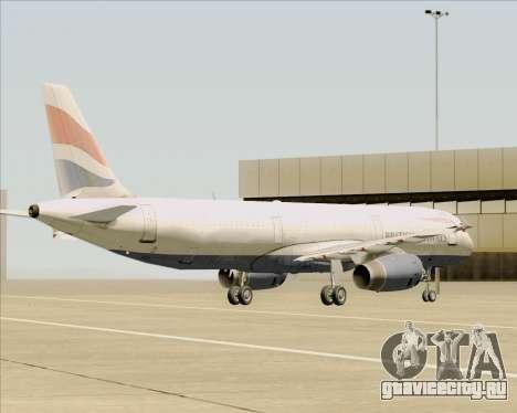 Airbus A321-200 British Airways для GTA San Andreas вид снизу