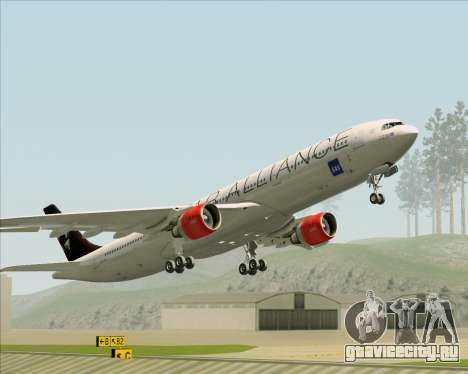 Airbus A330-300 SAS (Star Alliance Livery) для GTA San Andreas вид снизу