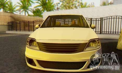 Dacia Logan White для GTA San Andreas вид сзади