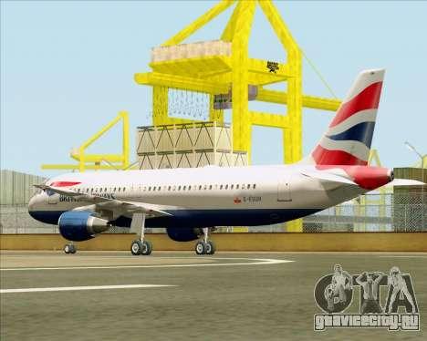 Airbus A320-232 British Airways для GTA San Andreas вид справа