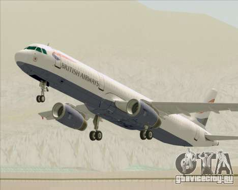 Airbus A321-200 British Airways для GTA San Andreas колёса