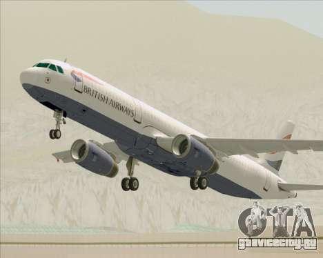 Airbus A321-200 British Airways для GTA San Andreas колёса