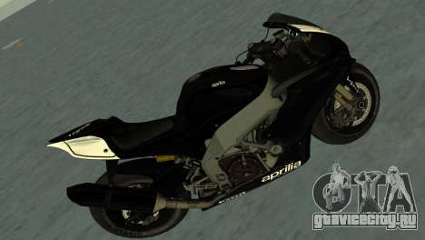 Aprilia RSV4 2009 Black Edition для GTA Vice City вид сзади слева