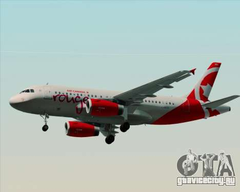 Airbus A319 Air Canada Rouge для GTA San Andreas вид сзади слева